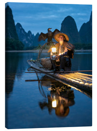 Canvas print  Old cormorant fisherman in Guilin, China - Jan Christopher Becke