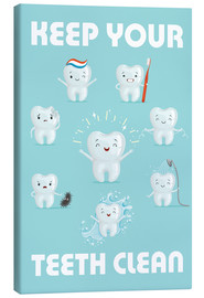 Canvas print  Keep your teeth clean - Kidz Collection