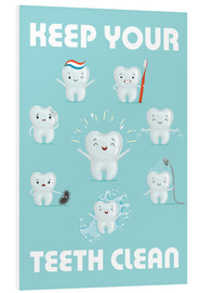 Foam board print  Keep your teeth clean - Kidz Collection