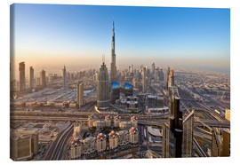 Canvas print  Sunrise at Dubai City - Dieter Meyrl