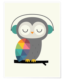 Premium poster  Owl time - Andy Westface