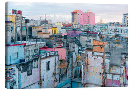 Canvas print  Authentic view of a street of Old Havana