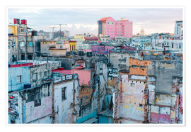 Premium poster  Authentic view of a street of Old Havana
