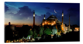 Acrylic print  View of Hagia Sophia after sunset