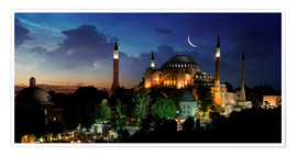 Premium poster  View of Hagia Sophia after sunset