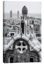 Canvas print  Impressive architecture and mosaic art at Park Guell