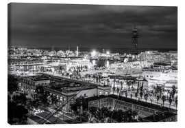 Canvas print  Beautiful view over the Port of Barcelona