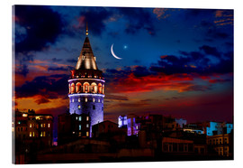 Acrylic print  Illuminated Galata Tower