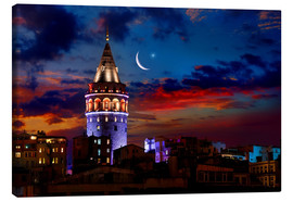 Canvas print  Illuminated Galata Tower