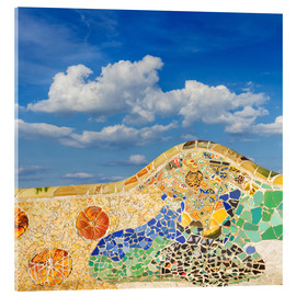 Acrylic print  Mosaic in the Park Güell