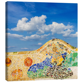 Canvas print  Mosaic in the Park Güell