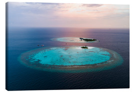 Canvas print  Islands at sunset in the Maldives - Matteo Colombo