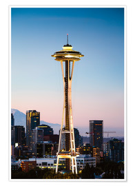 Premium poster  The Space Needle, Seattle, USA - Matteo Colombo