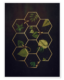 Premium poster  bees in space - Sybille Sterk