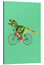 Aluminium print  T-Rex riding a bike - Jonas Loose