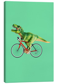Canvas print  T-Rex riding a bike - Jonas Loose