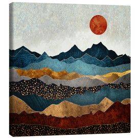 Canvas print  Amber Dusk - SpaceFrog Designs