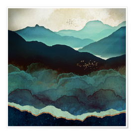 Premium poster  Indigo Mountains - SpaceFrog Designs