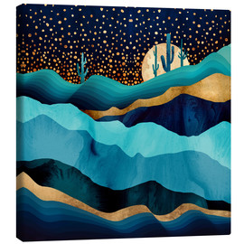 Canvas print  Indigo Desert Night - SpaceFrog Designs