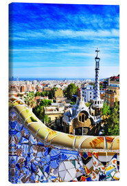 Canvas print  Park Guell in Barcelona