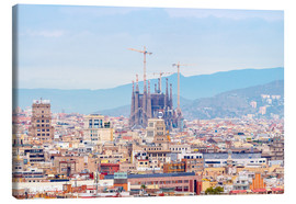 Canvas print  Barcelona with the Cathedral of Gaudí