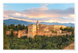 Premium poster  Alhambra with Comares tower