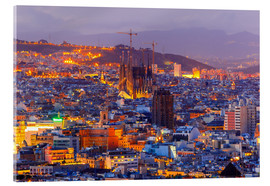 Acrylic print  Aerial view of Barcelona