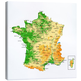 Canvas print  Map of France