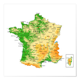 Premium poster  Map of France