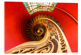 Acrylic print  Spiral staircase in Brittany
