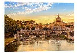 Acrylic print  Saint Peter Basilica with Sant'Angelo Bridge