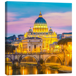 Canvas print  Bridge of Hadrian and St. Peter's Cathedral