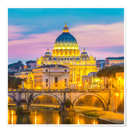 Premium poster  Bridge of Hadrian and St. Peter's Cathedral