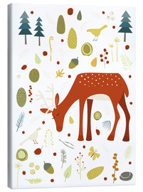 Canvas print  Pretty deer in the autumn forest - Nic Squirrell
