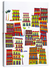 Canvas print  Colorful houses in Havana, Cuba - Nic Squirrell