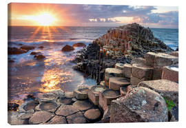 Canvas print  Sunset at Giant's Causeway