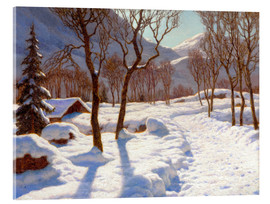 Acrylic print  Winter scene in the Alps - Ivan Fedorovich Choultse