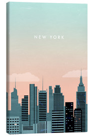 Canvas print  Illustration of New York - Katinka Reinke