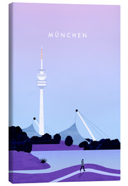 Canvas print  Munich illustration - Katinka Reinke