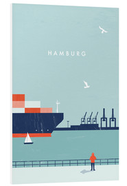 Foam board print  Hamburg Illustration - Katinka Reinke