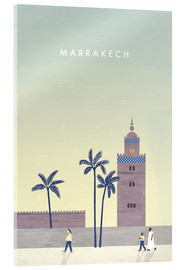 Acrylic print  Marrakesh illustration - Katinka Reinke