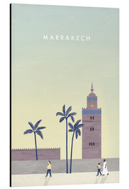 Aluminium print  Marrakesh illustration - Katinka Reinke