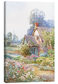 Canvas print  A cottage garden - Theresa Sylvester  Stannard