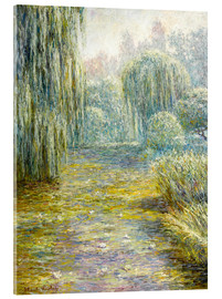 Acrylic print  The garden in Giverny - Blanche Hoschede-Monet