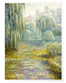 Premium poster  The Garden in Giverny - Blanche Hoschede-Monet
