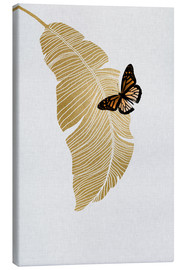 Canvas print  Butterfly & Palm - Orara Studio
