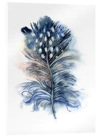 Acrylic print  Feather blue - Verbrugge Watercolor