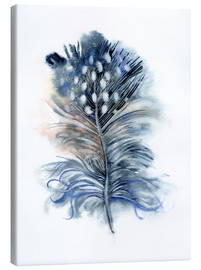 Canvas print  Feather blue - Verbrugge Watercolor