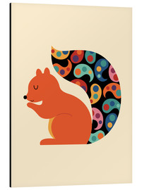 Aluminium print  Paisley Squirrel - Andy Westface