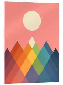 Acrylic print  Rainbow Peak - Andy Westface